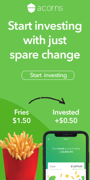 Acorn - Start investing with spare change.